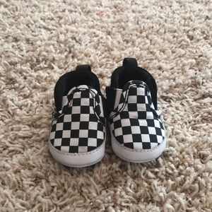 Newborn Vans slip-ons. Like new!